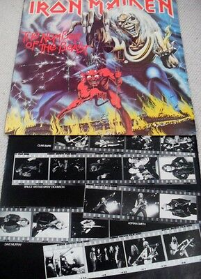 IRON MAIDEN: THE NUMBER OF THE BEAST.  33rpm 1982