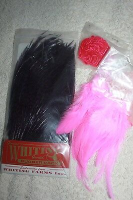Whiting Purple Grizzly  Bugger Pack, with free Chenille Fly Fishing Materials