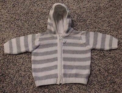 Unisex Mothercare Hooded Cardigan, New Baby (up to 10lbs)