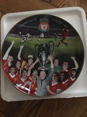 Danbury Mint Liverpool 1-0 Real Madrid Collector Plate