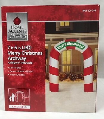 7.6' Merry Christmas Archway Air blown Inflatable Holiday Yard Decoration
