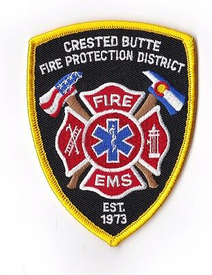 Crested Butte Fire Protection District Colorado Firefighter Patch NEW