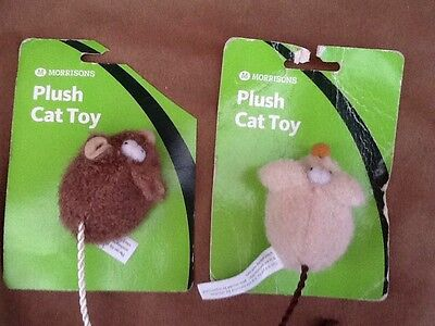 Morrisons Plush Cat Toys X 2 New
