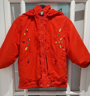 childs red hooded coat by HUMMELSHEIM SIZE 5/6  EUR 110
