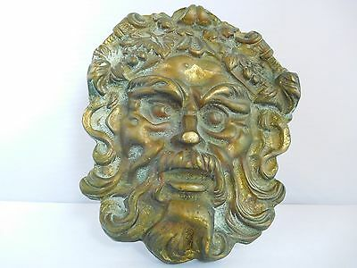 Victorian Bronze / Brass ???   Grotesque Door Knocker Plate