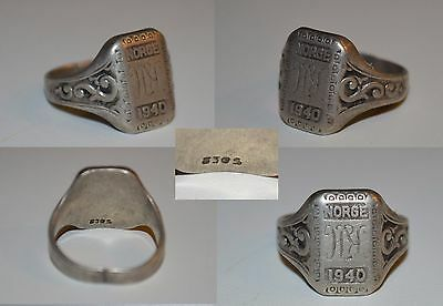 original ring NORGE 1940 silber 830s
