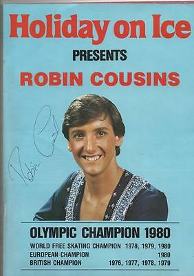 Holiday On Ice 1980 Official Programme Autograph Robin Cousins Olympic Champion