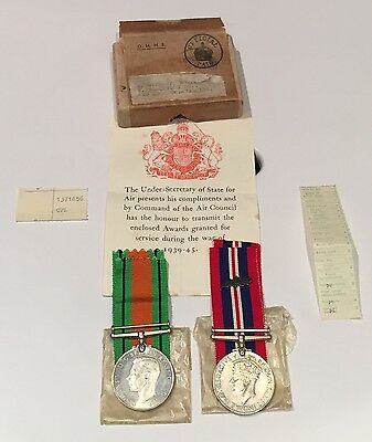 WW2 Medals MID Mentioned In Despatches RAF Stewart Mention MID