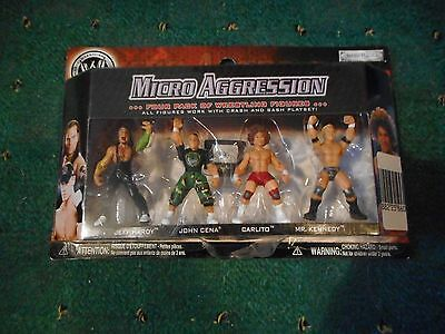 Wwe 4 Figure Pack Of Micro Aggression New In Box