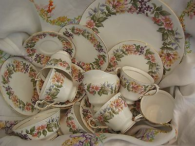 "Paragon ""COUNTRY LANE"" 21 piece Tea Set Good Condition & Firm Favourite"