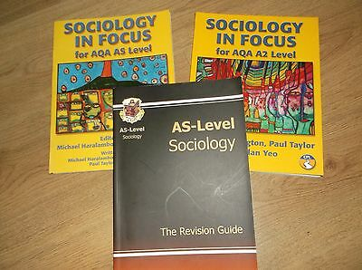 3 x sociology books ~ AS and A2 level ~VGC