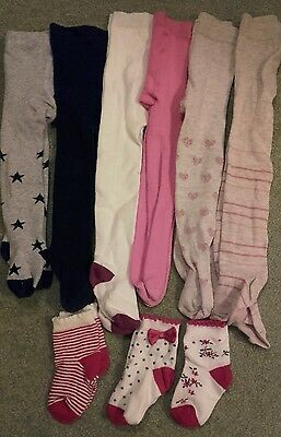 6 pairs girls winter wooly tights 12-18 months 1-1.5 years socks