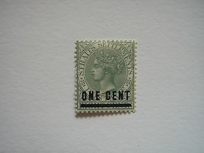 Malaya Straits Settlements stamps 1892-4 SG93 Surch. 1c on 8c MINT
