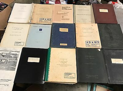 Huge Lot Of 62 Engineering Documents & Manuals From Alton Adams Jr St Thomas