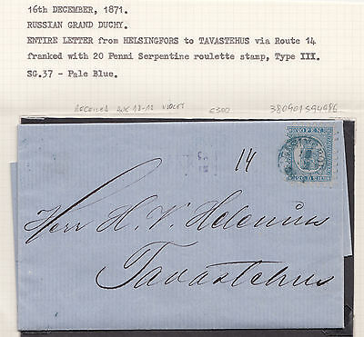 timbres / stamps Finlande Russe / Finland russian empire lettre / letter