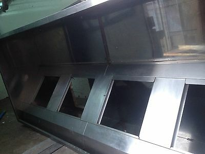 Commercial kitchen Canopy hood extractor Unit stainless steel