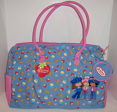 """STRAWBERRY SHORTCAKE """"Sweets"""" Large DUFFEL Travel DIAPER BAG Tote Coin Purse NEW"""