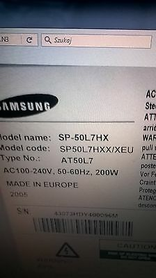 """Samsung TV SP-50L7HX 50"""" HD Rear Projection TV Including stand"""
