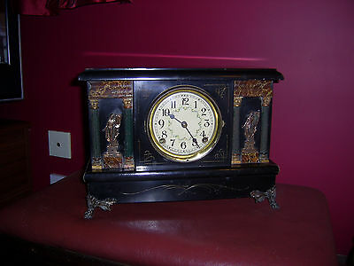 Antique Sessions Clock Co. 8 Day Half Hour Strike Mantel Clock for restoration