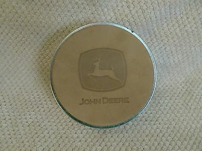 John deere Coasters Set of 6 in Tin Leather
