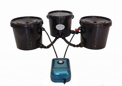 Hydroponics Systems DEEP WATER CULTURE 2 POT BUBBLE TUBZ DWC 21L NOT ALIEN, RDWC
