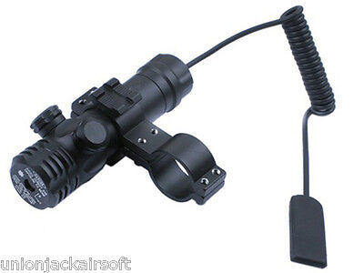 Adjustable Red Laser Sight For Scope Mounting With 20mm Mount & Pressure Switch