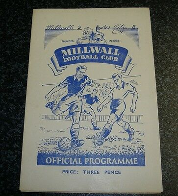 Millwall v Exeter 1949/50 FA Cup