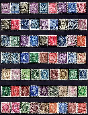 Page of earlier QE2 and Gerogre VI definitives (171)