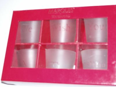Waterford Marquis Set Of 6 We Wish You A Merry Christmas Glasses In Presentation