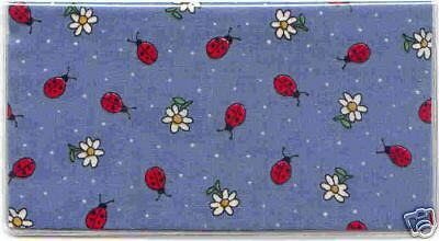 Lady Bugs And Daisys Checkbook Cover Fabric New Lady Bug Summer Time
