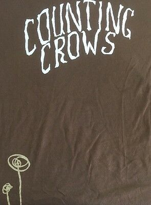 Counting Crows Band Xl Long Sleeve Shirt Concert Tour 90's Brown