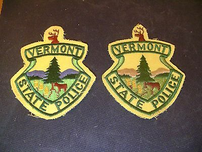 Vermont State Police Patches Vintage Two Different Colors