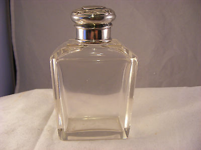Scent bottle with silver top, Birmingham 1910, W G Sothers & Co