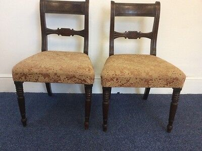 Pair Of Early 20th Century Vintage Wooden Dining Chairs Lovely Very Comfortable