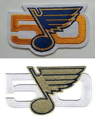 St. Louis Blues Patch Set 50 Years Anniversary Celebration Stanley Cup Champs