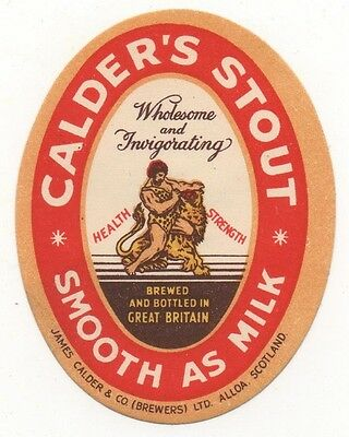 OLD LABEL  - CALDER'S STOUT (C)    - 70mm TALL