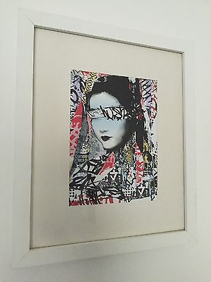 Hush Large Pinted Art Sticker Rare Limited Edition Mint Condition Banksy