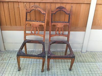 Antique Oak Chairs,  Unfinished Project, Barn Find