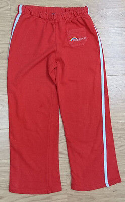 Girlguiding Girls Tracksuit Trousers Age 6-7 Years 122Cm Red Sport