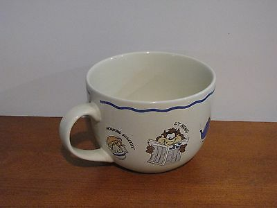 Warner Bros Studio Large Vintage Coffee Mug '98 Looney Tunes Cup Taz Bugs Tweety