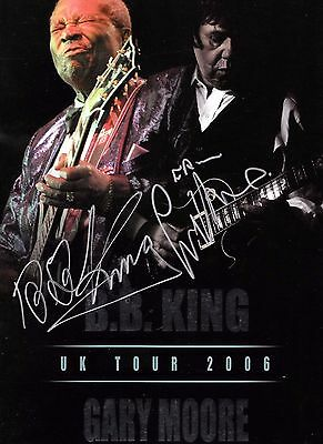 Bb King Gary Moore Signed 2006 Programme Thin Lizzy Genuine Blues