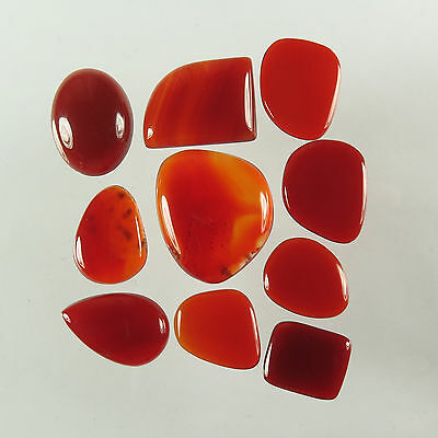Rare 10 Pcs Mix Shapes Gemstones Real CARNELIAN Wholesale Lot 63.80 Cts Exporter