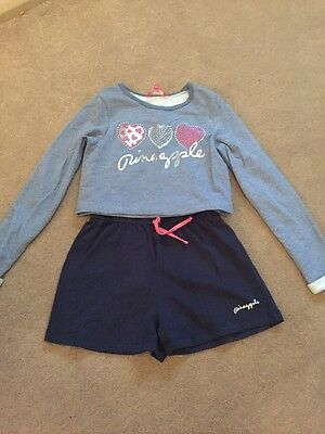 GIRLS Pineapple Play Suit & Jumper set Age 9-10 Yrs