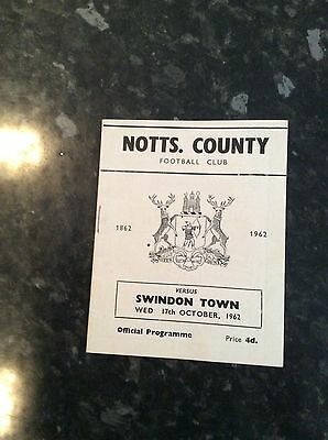 Early League Cup Game Notts County V Swindon Town 17.10.1962
