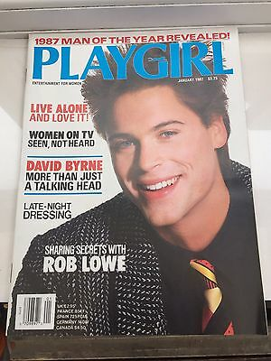 playgirl US UK magazine collection hot hunks gay sexy real men Jan 1987 Rob Lowe