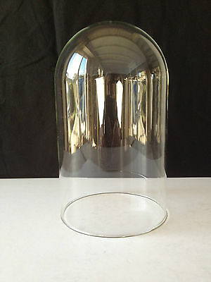 Glass tall round dome for clock/taxidermy/objets d'art display 11.5 cm x 20cm
