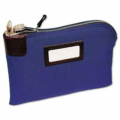 2330881W08 MMF Industries 7-Pin Security/Night Deposit Bag 2-Keys 8.5X11 Blue