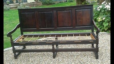 Large Victorian Antique Hardwood Bench
