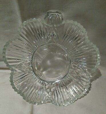 Vintage Pressed Glass Trinket Tray Or Nibbles Dish