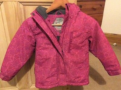REDUCED!!! Amazing pink ski jacket in fabulous condition girls age 5-6 hooded